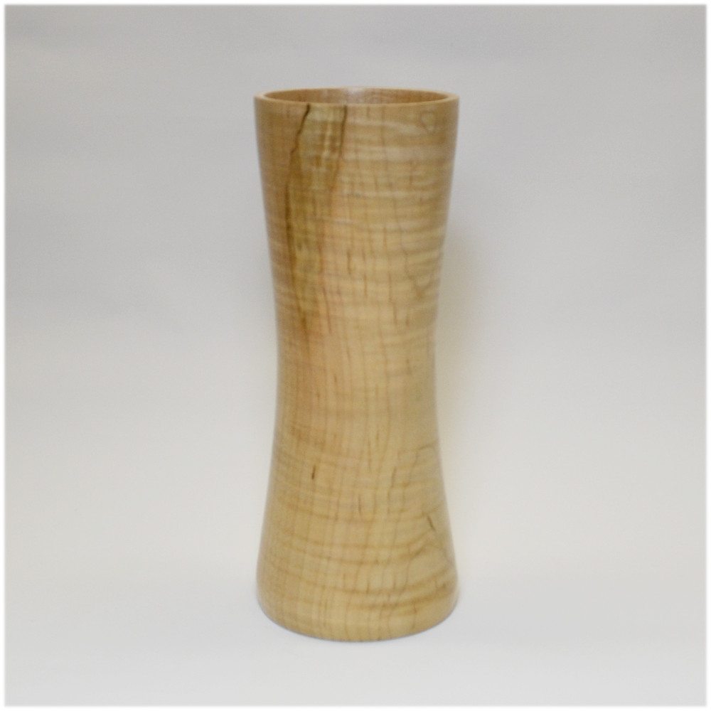Curly Maple Hourglass Vase